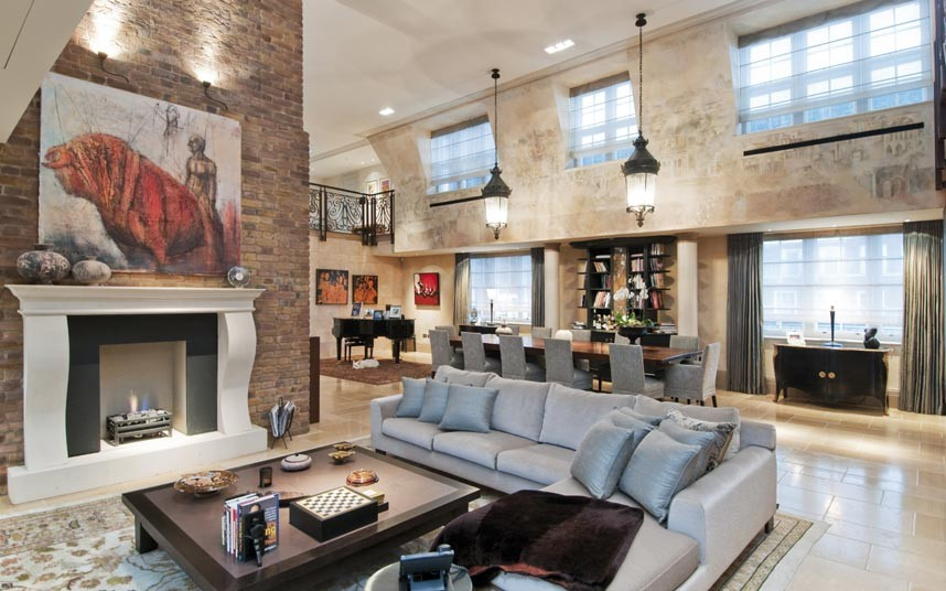 A five-bedroomed apartment in Kensington. This property, which boasts a pool and gym, has a £30m price tag. Picture: Savills
