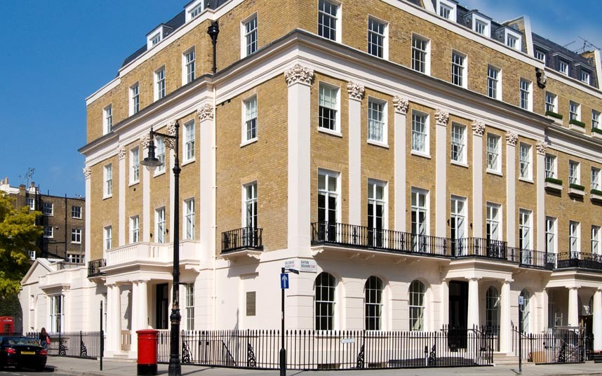 This Eaton Square apartment, complete with magificient dining room and a maid's room, is on sale for £28m. Picture: Savills